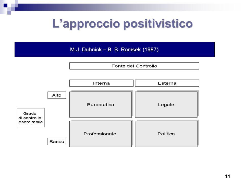 L'approccio positivistico