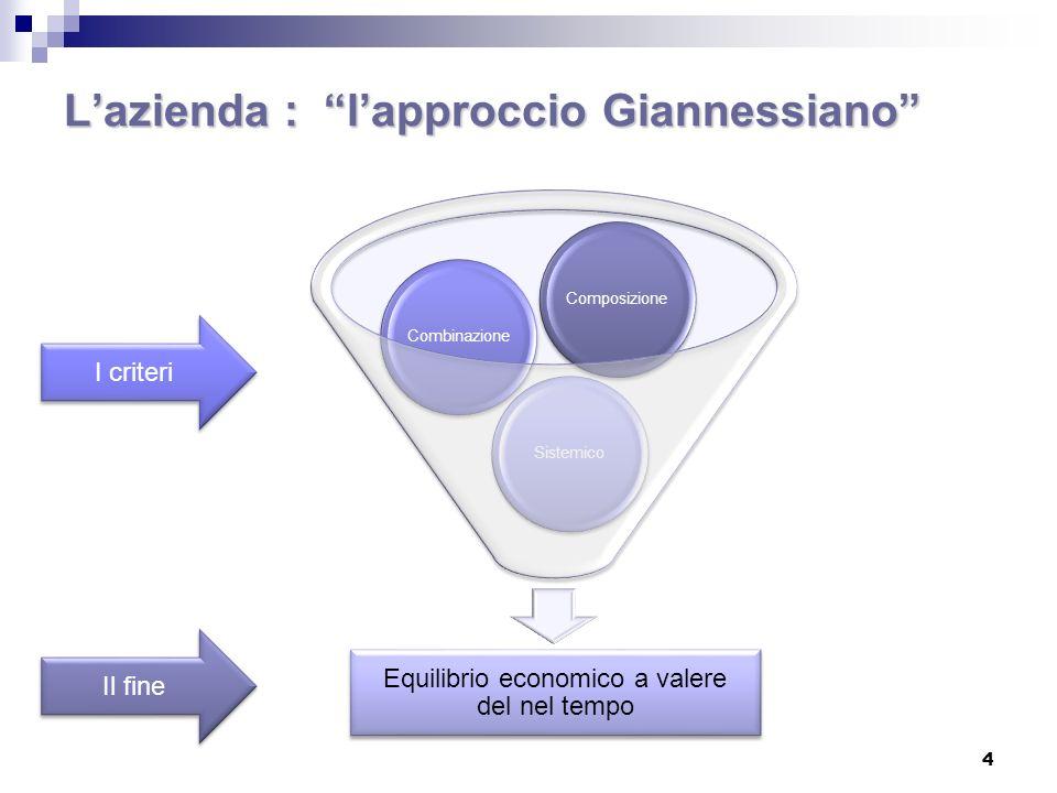 L'azienda : l'approccio Giannessiano