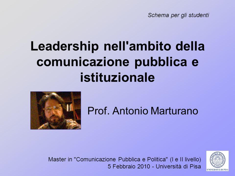 Leadership nell ambito della comunicazione pubblica e istituzionale
