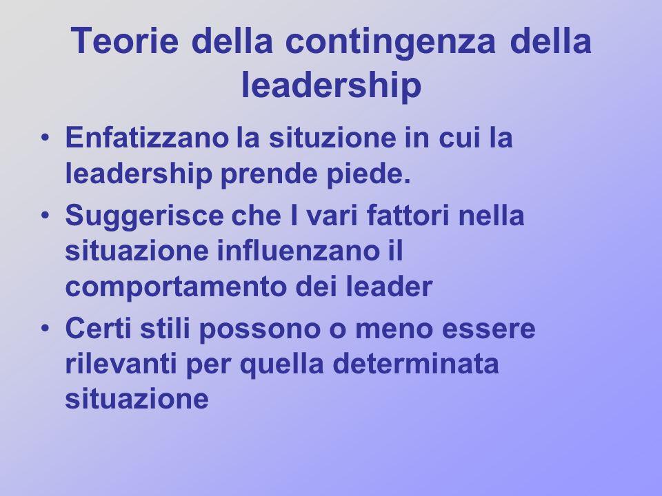 Teorie della contingenza della leadership