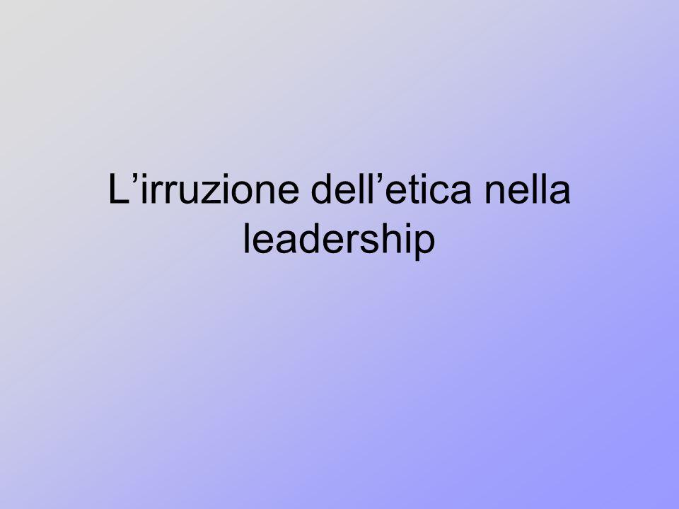 L'irruzione dell'etica nella leadership