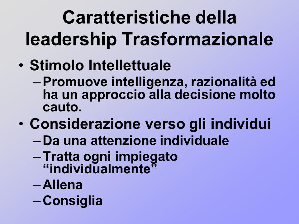 Caratteristiche della leadership Trasformazionale