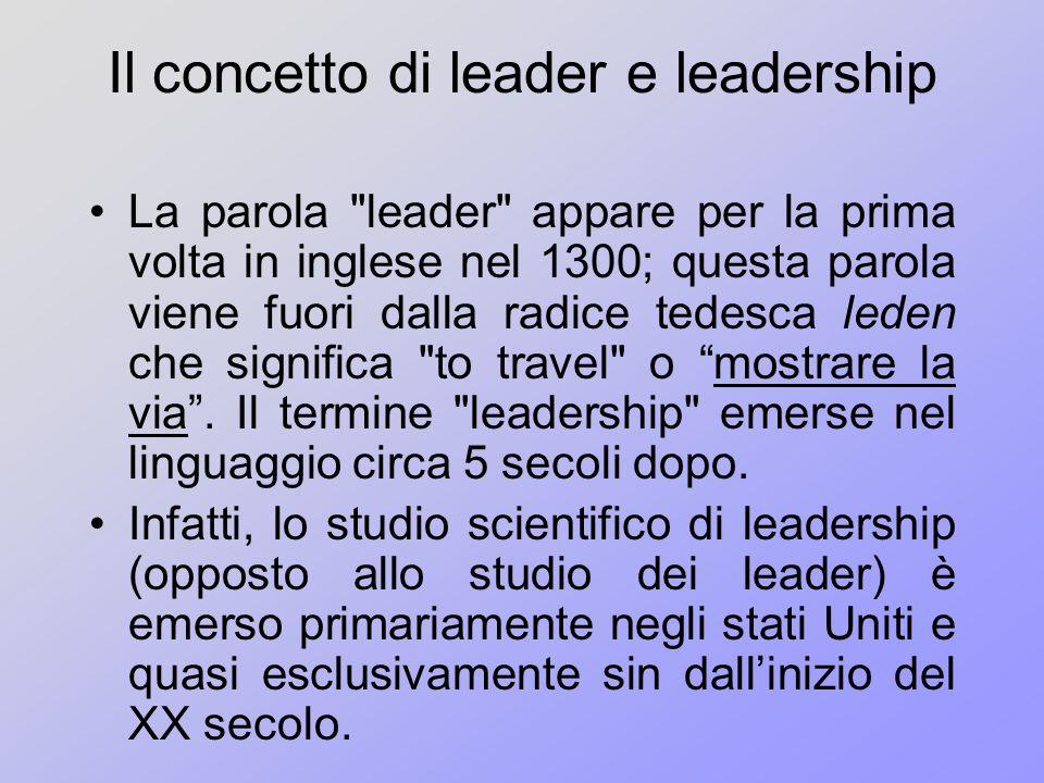 Il concetto di leader e leadership
