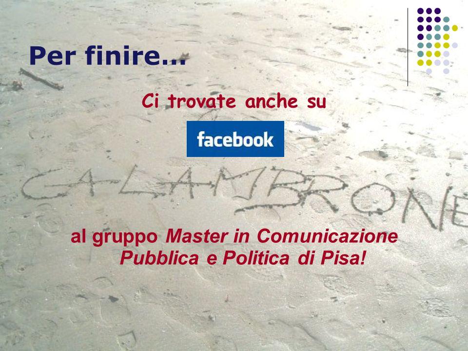 al gruppo Master in Comunicazione Pubblica e Politica di Pisa!