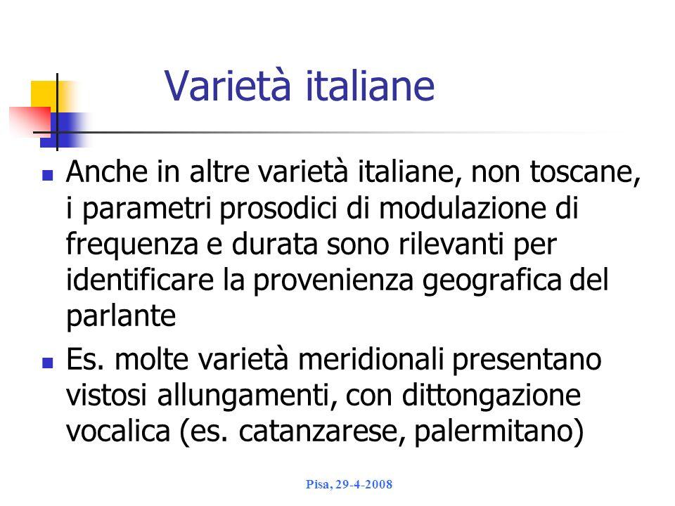 Varietà italiane