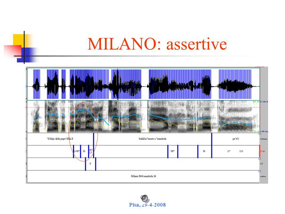 MILANO: assertive Pisa, 29-4-2008