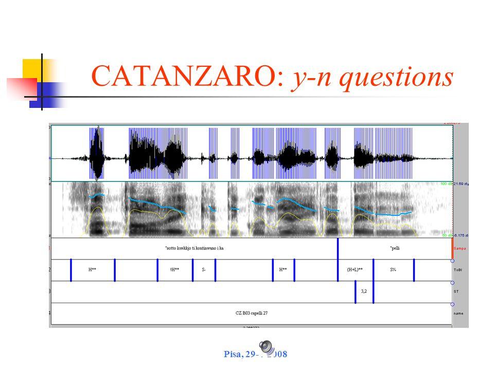 CATANZARO: y-n questions