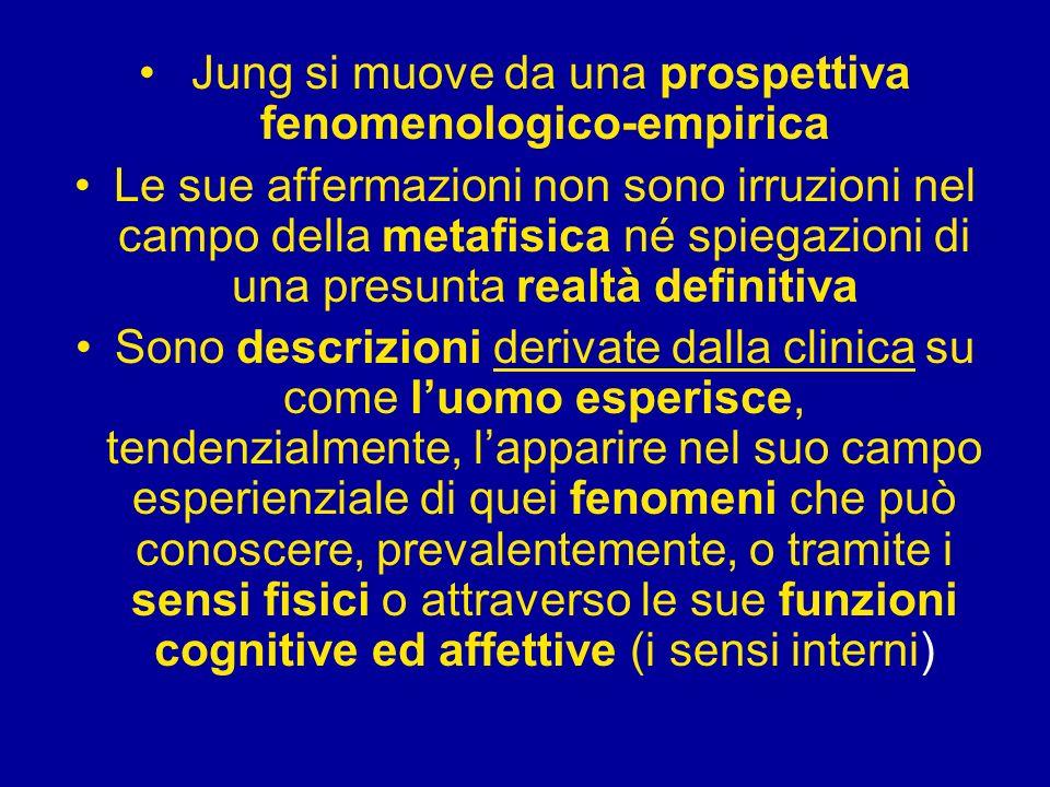 Jung si muove da una prospettiva fenomenologico-empirica