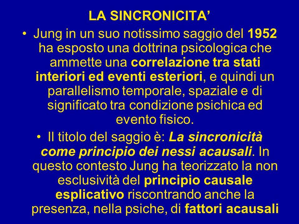 LA SINCRONICITA'