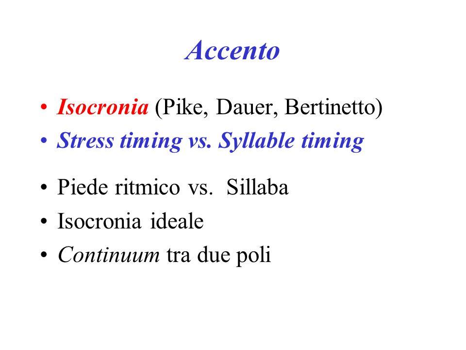 Accento Isocronia (Pike, Dauer, Bertinetto)