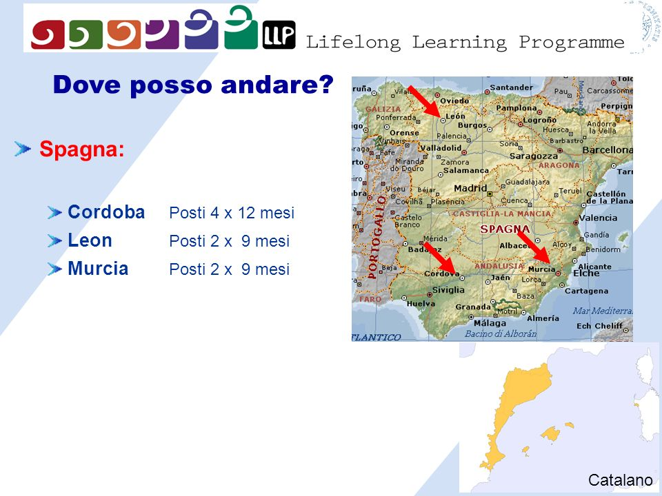 Dove posso andare Spagna: Cordoba Posti 4 x 12 mesi