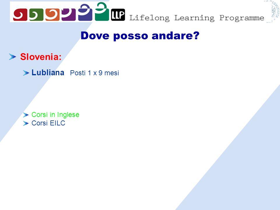 Dove posso andare Slovenia: Lubliana Posti 1 x 9 mesi