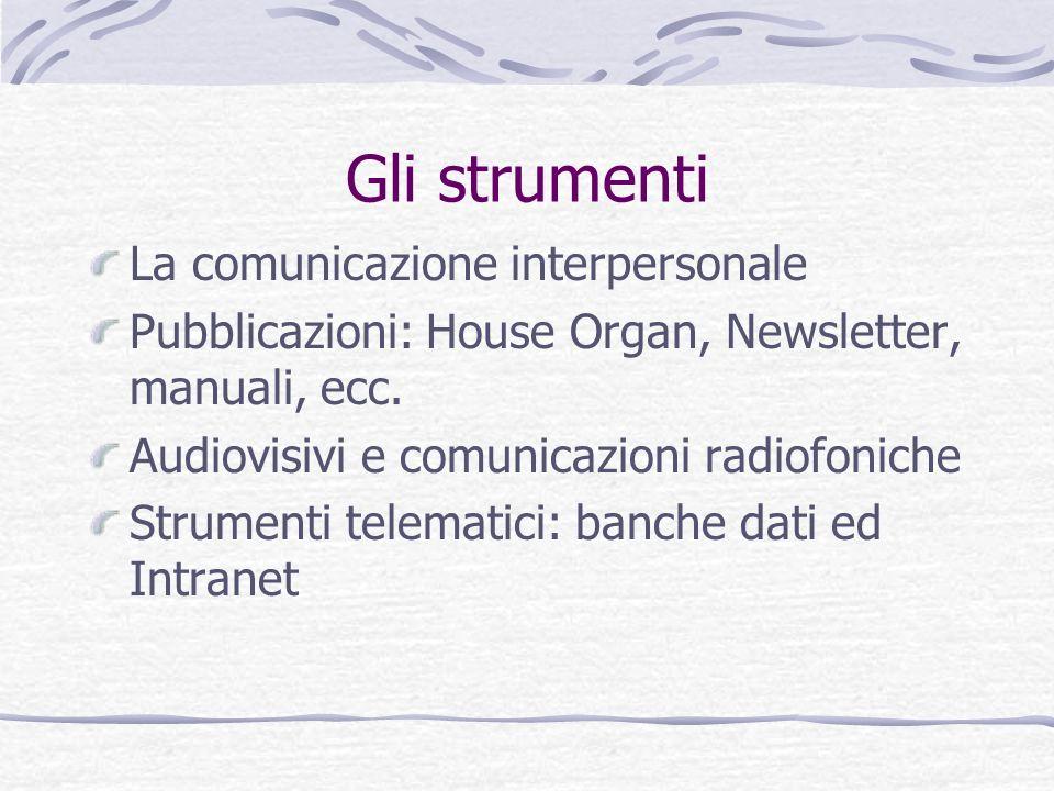 Gli strumenti La comunicazione interpersonale