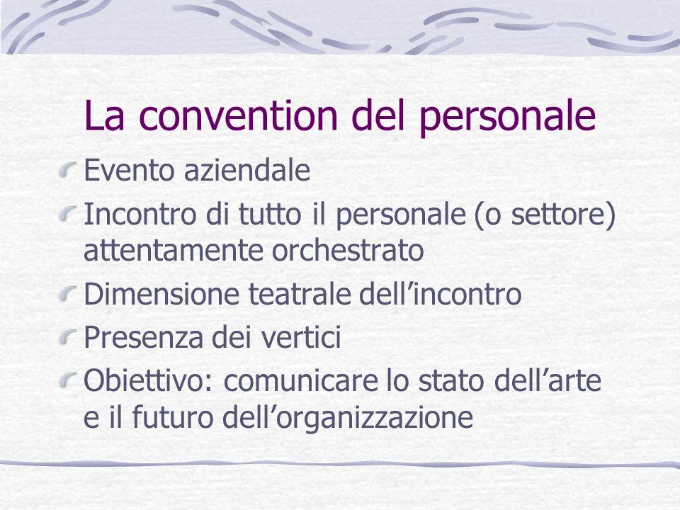 La convention del personale