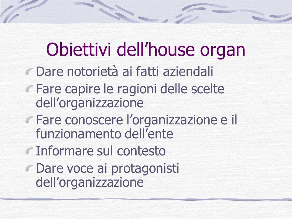 Obiettivi dell'house organ