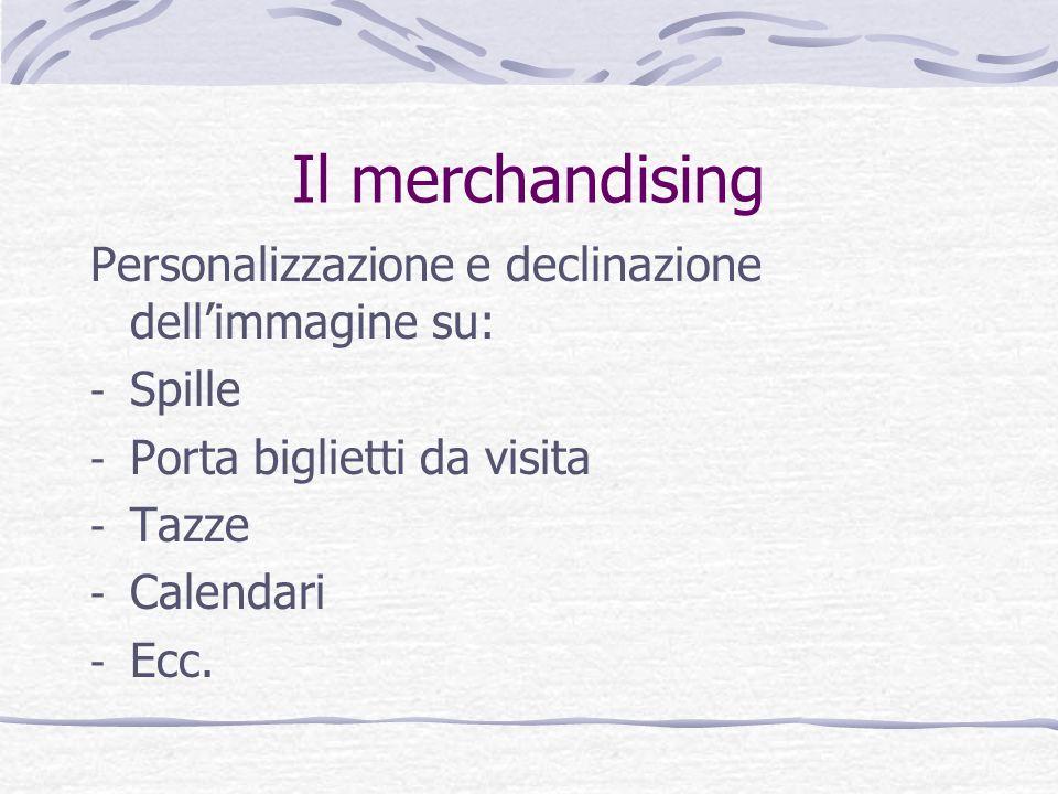 Il merchandising Personalizzazione e declinazione dell'immagine su: