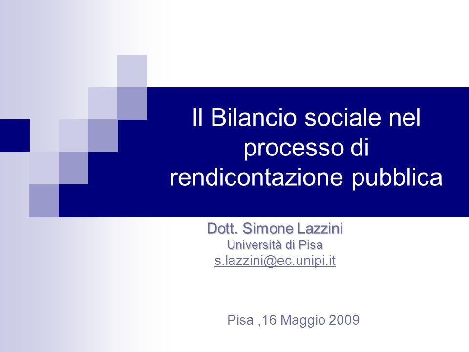Il Bilancio sociale nel processo di rendicontazione pubblica