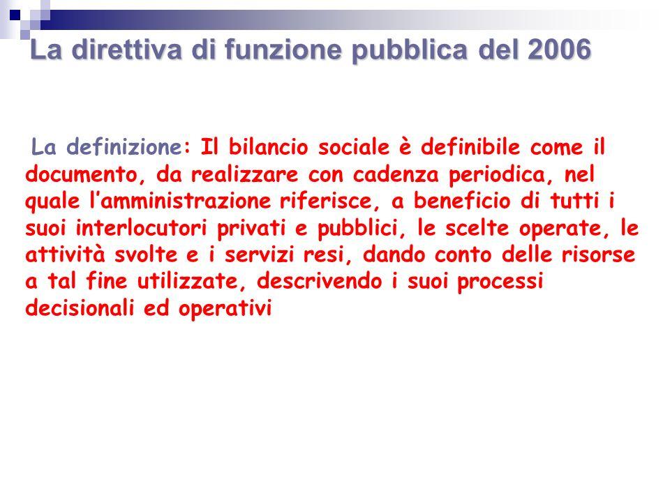 La direttiva di funzione pubblica del 2006