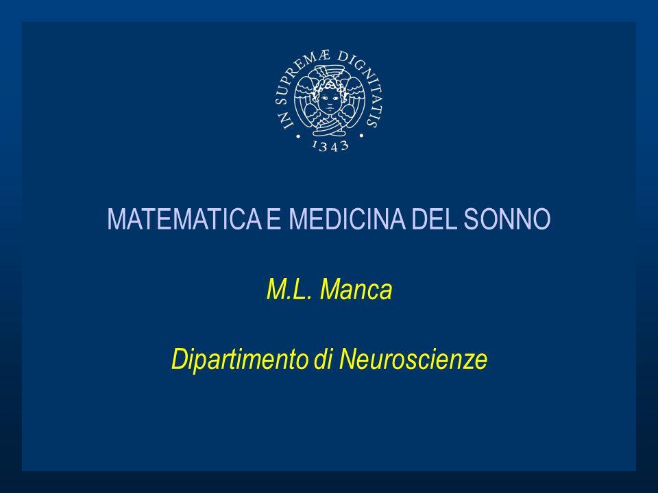 MATEMATICA E MEDICINA DEL SONNO M. L
