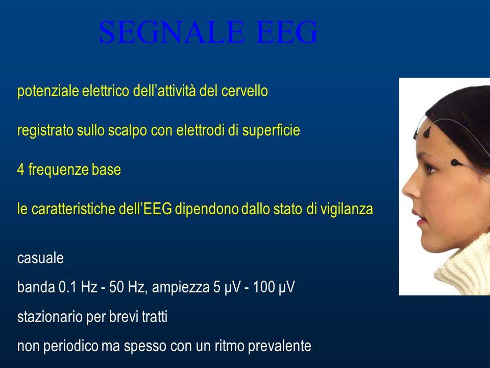 SEGNALE EEG potenziale elettrico dell'attività del cervello