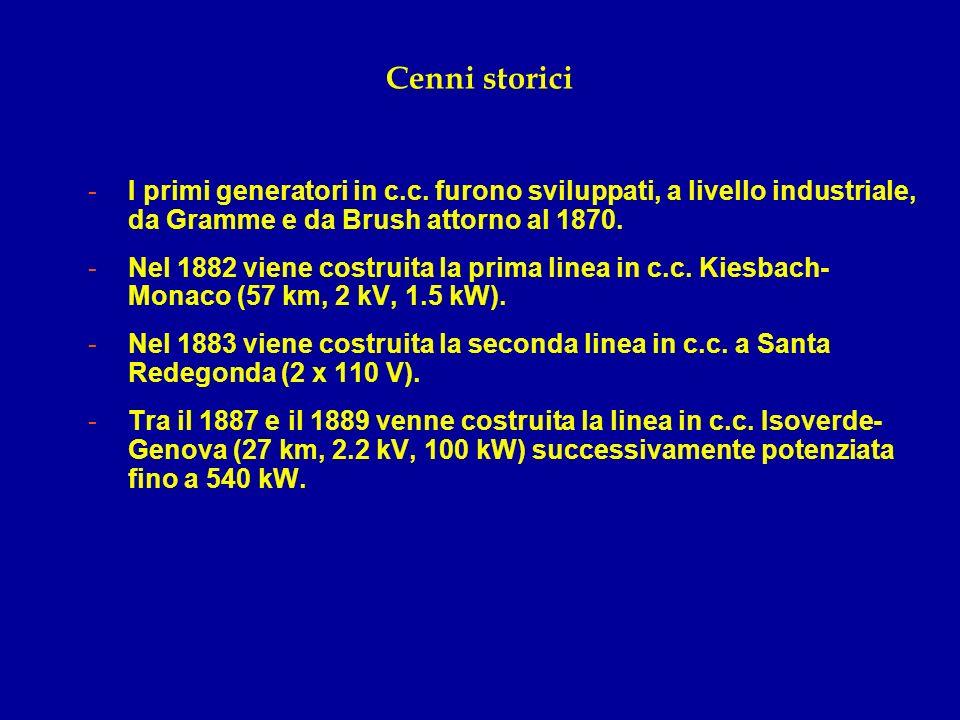 Cenni storici I primi generatori in c.c. furono sviluppati, a livello industriale, da Gramme e da Brush attorno al 1870.