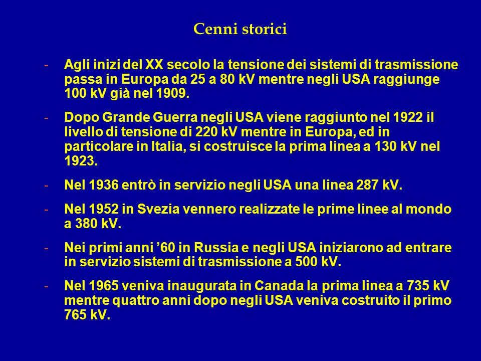 Cenni storici