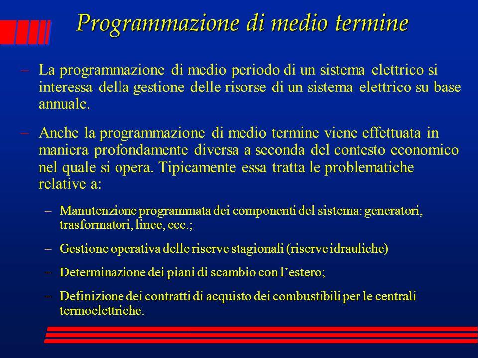 Programmazione di medio termine