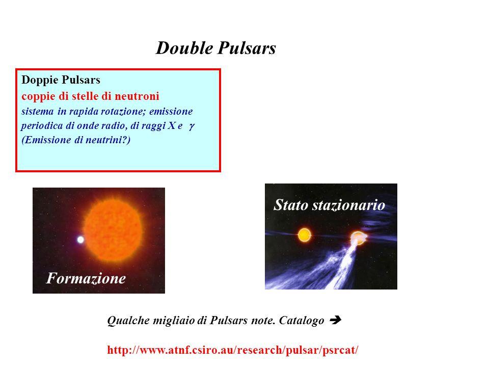 Double Pulsars Stato stazionario Formazione Doppie Pulsars