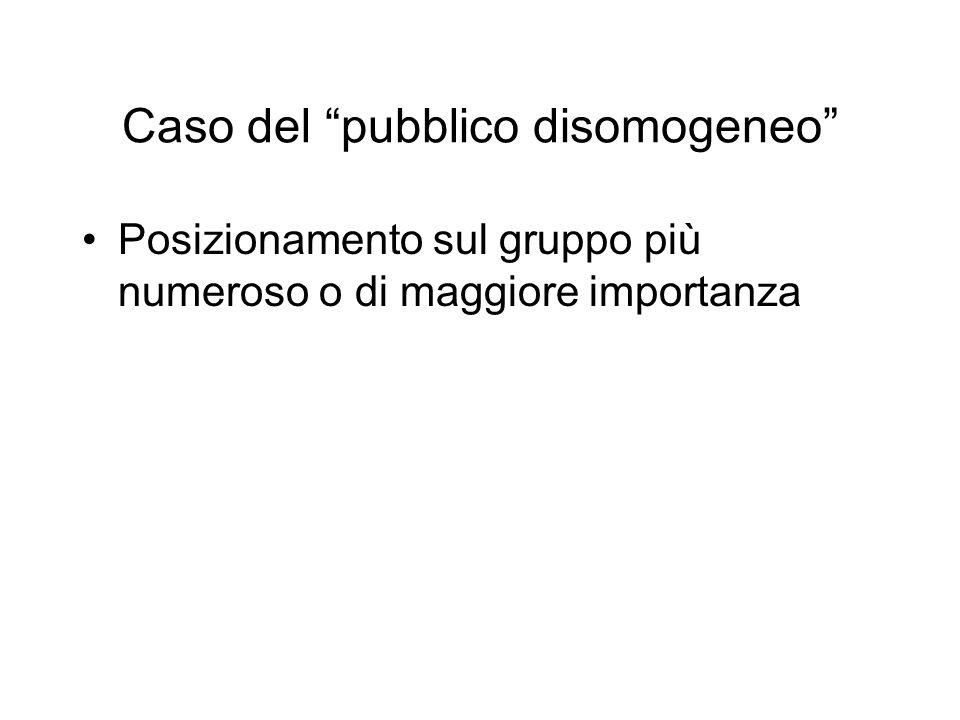 Caso del pubblico disomogeneo