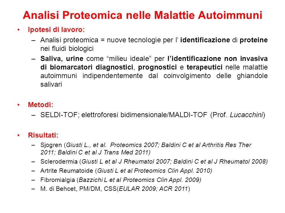 Analisi Proteomica nelle Malattie Autoimmuni