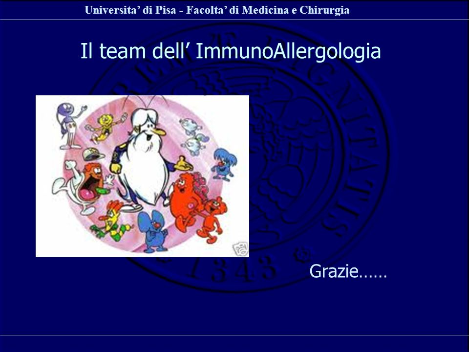 Il team dell' ImmunoAllergologia