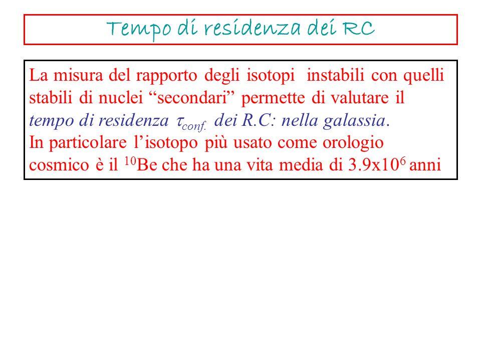 Tempo di residenza dei RC