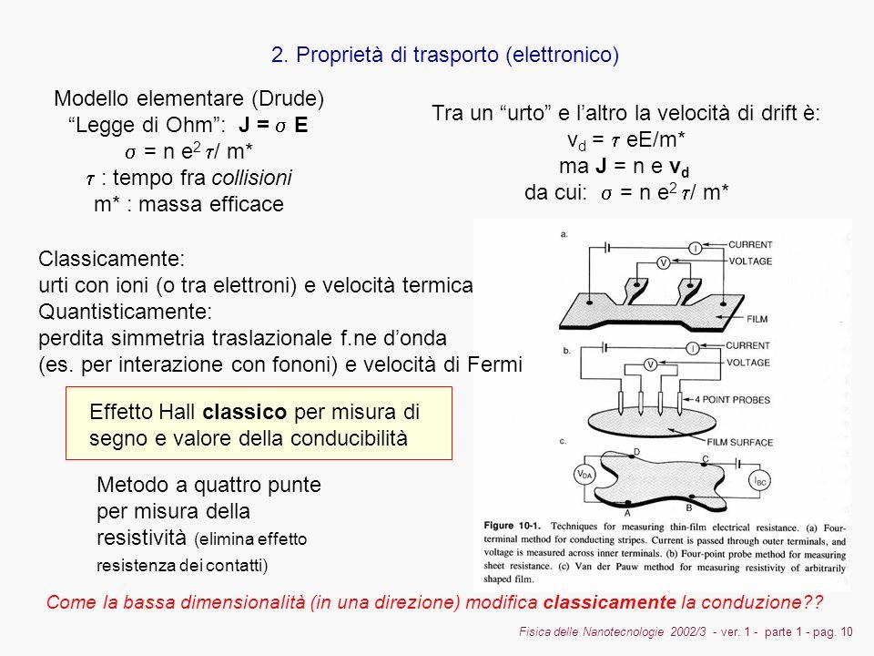 2. Proprietà di trasporto (elettronico)