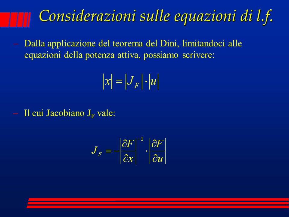 Considerazioni sulle equazioni di l.f.