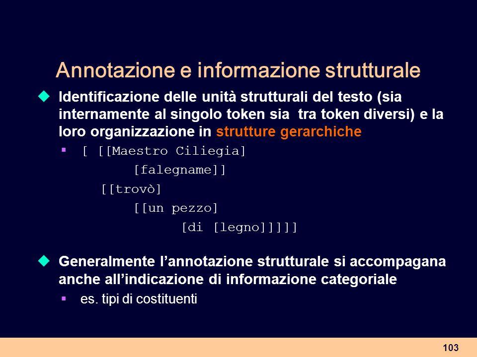Annotazione e informazione strutturale