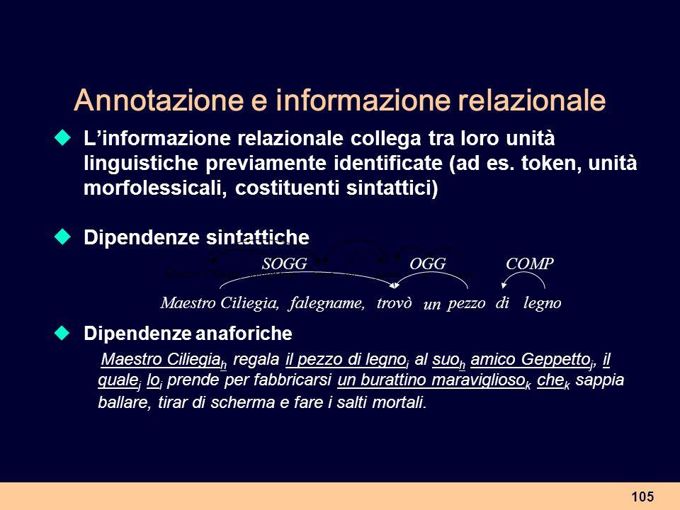 Annotazione e informazione relazionale