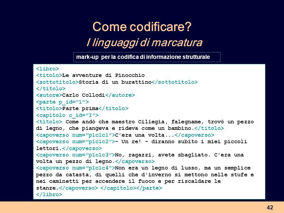 Come codificare I linguaggi di marcatura