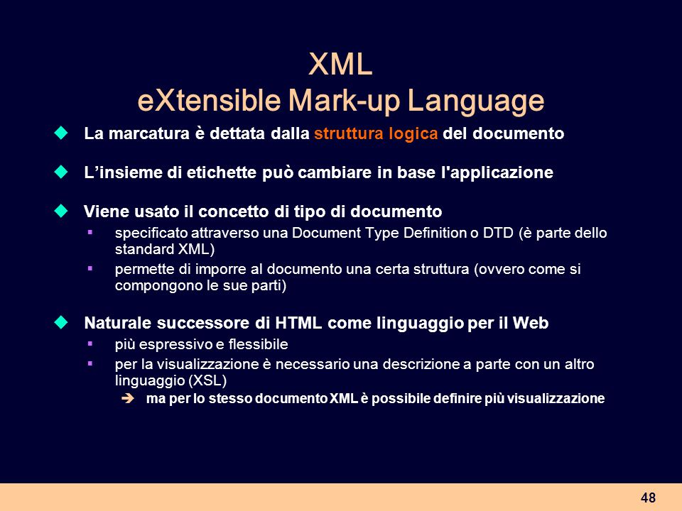 XML eXtensible Mark-up Language