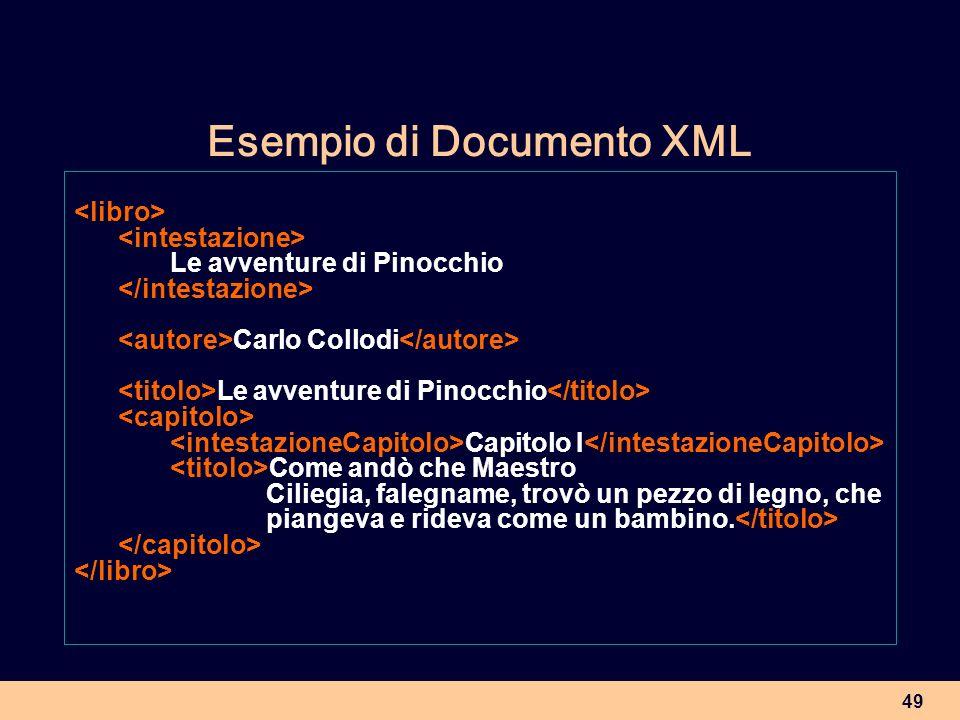 Esempio di Documento XML