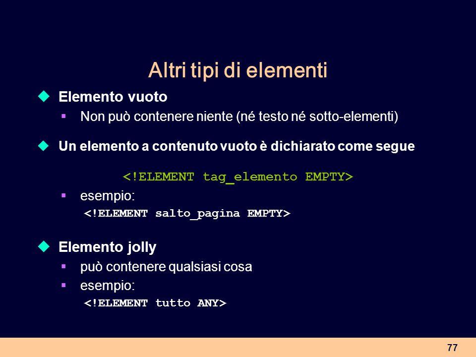 <!ELEMENT tag_elemento EMPTY>