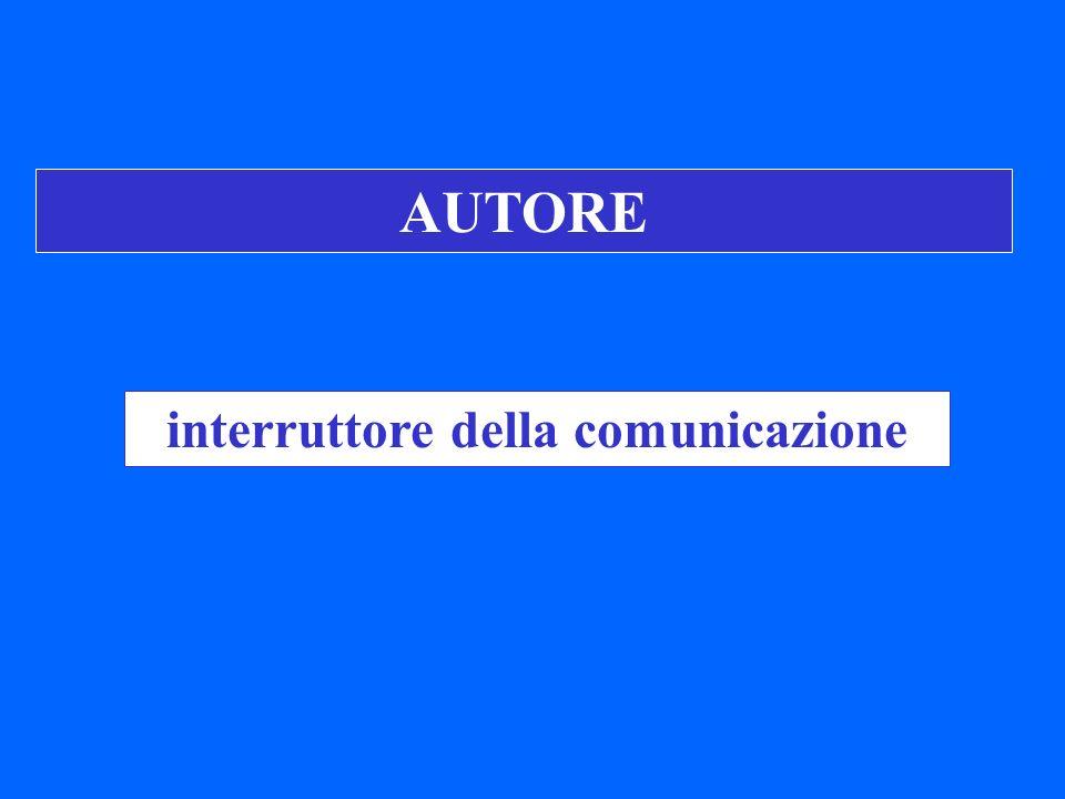 interruttore della comunicazione