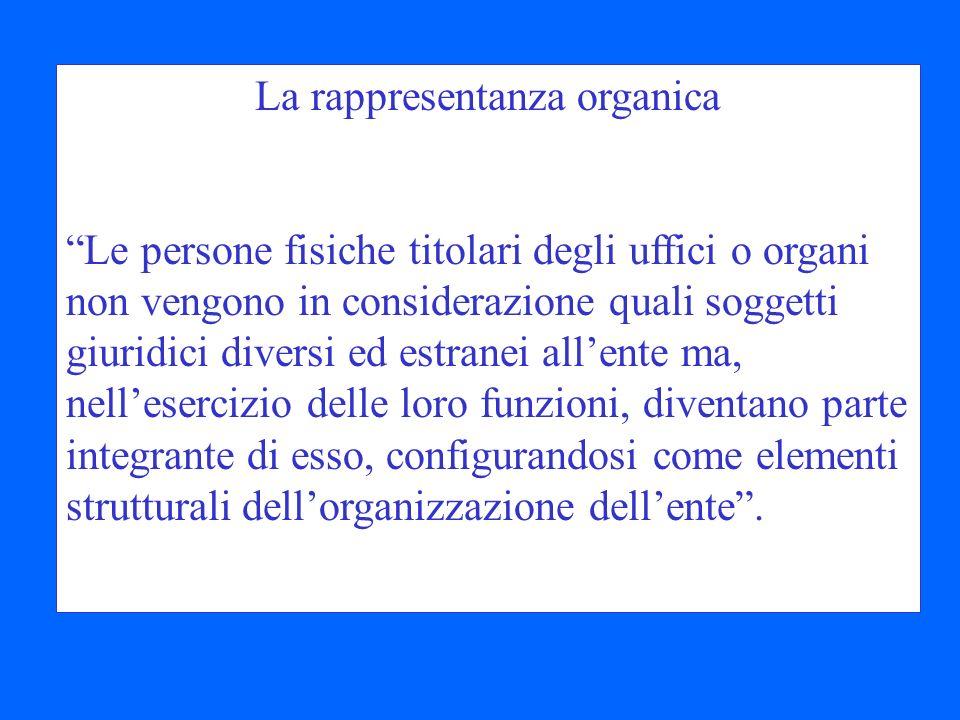 La rappresentanza organica