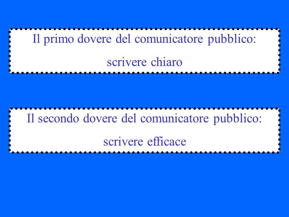 Il primo dovere del comunicatore pubblico: scrivere chiaro