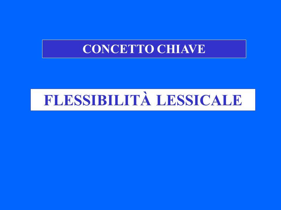 FLESSIBILITÀ LESSICALE