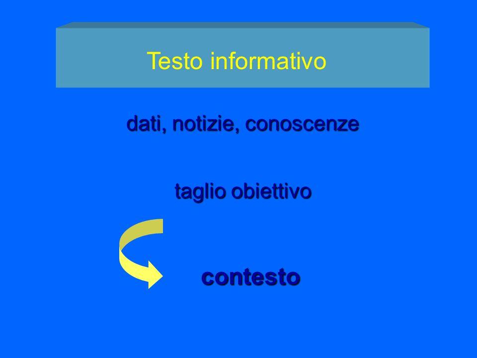 dati, notizie, conoscenze