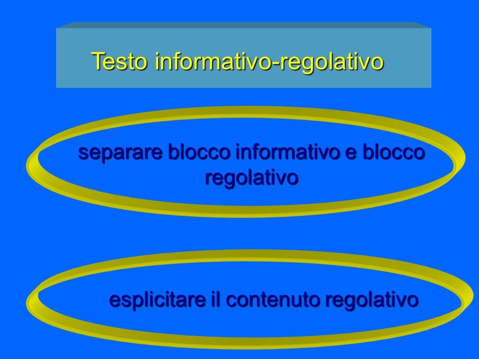 Testo informativo-regolativo
