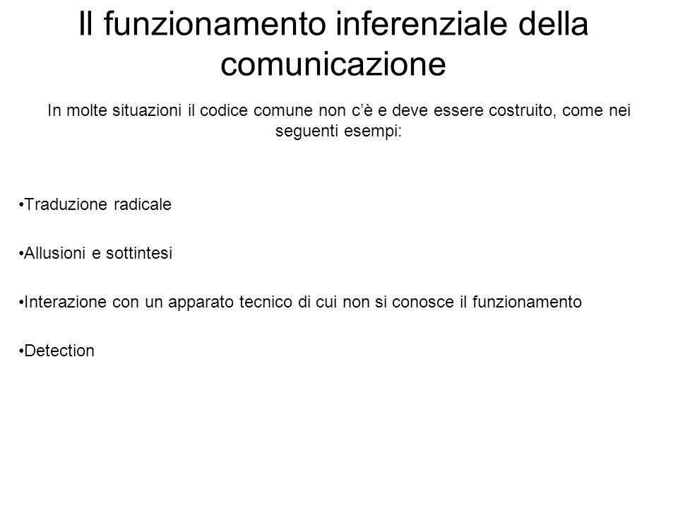Il funzionamento inferenziale della comunicazione