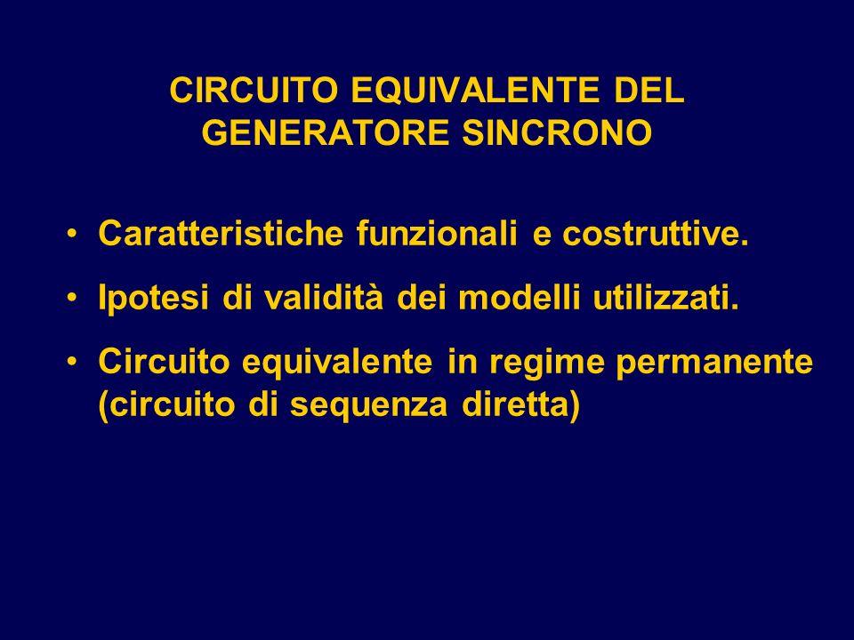 CIRCUITO EQUIVALENTE DEL GENERATORE SINCRONO