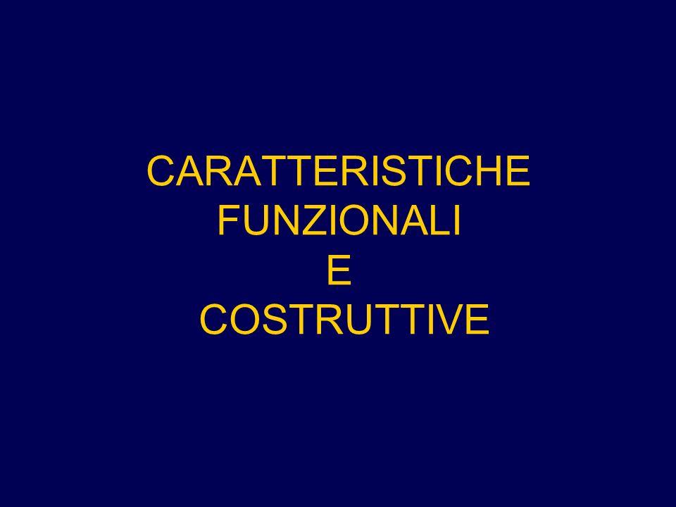 CARATTERISTICHE FUNZIONALI E COSTRUTTIVE
