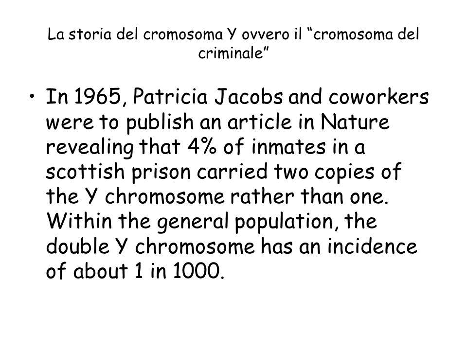 La storia del cromosoma Y ovvero il cromosoma del criminale